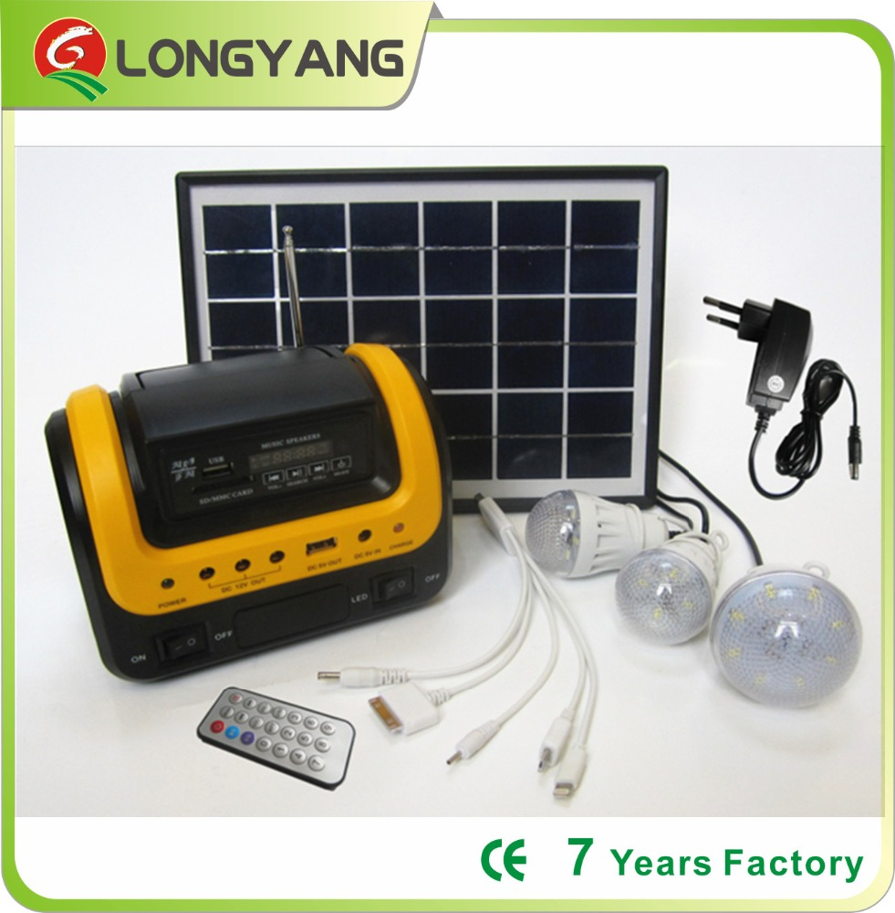 3w solar home <strong>kit</strong> with FM MP3 remote control for africa