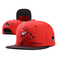 New fashion 100% Acrylic Custom flat embroidered wholesale Carton snapback caps OEM low MOQ