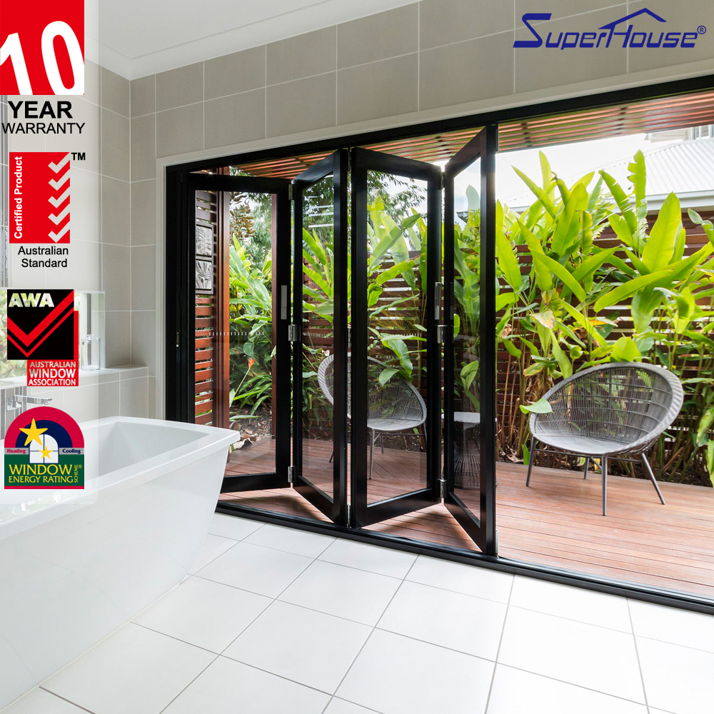 Luxury glass balcony door frosted glass interior pocket door with as2047