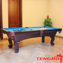 Hand caving solid wood portable pool table