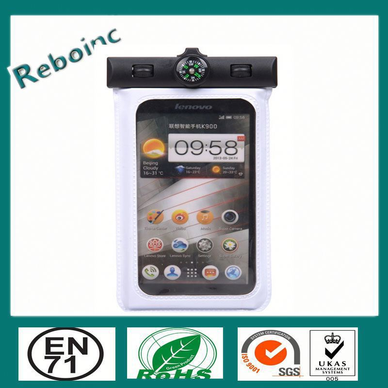 Hiking Outdoor brand New Waterproof PVC Diving Bag Case Underwater Pouch For iPhone 4 4S 5 5S 5C Samsung S3 S4 With compass