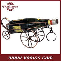 Antiqued Bronze Hand Made Metal Art Bar Decor Wine Rack Bottle Holder In Iron Metal Alloy