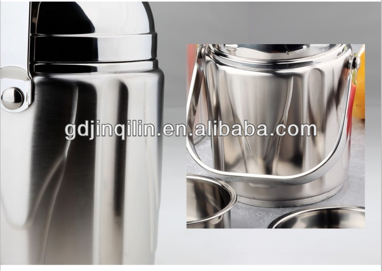 new products insulated stainless steel food storage container with rivet handle