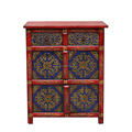 antique reproduction Oriental tibetan furniture hand painted cabinet sideboard wood