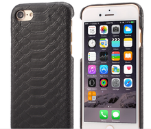 for iPhone 6 Genuine Snake Skin Leather Snap-on Case