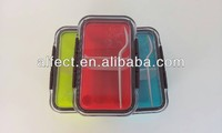 rectangle sealed plastic lunch box with division plate