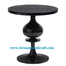 Eco-friendly hand lacquered vietnamese lacquered bamboo dining tables in plain black