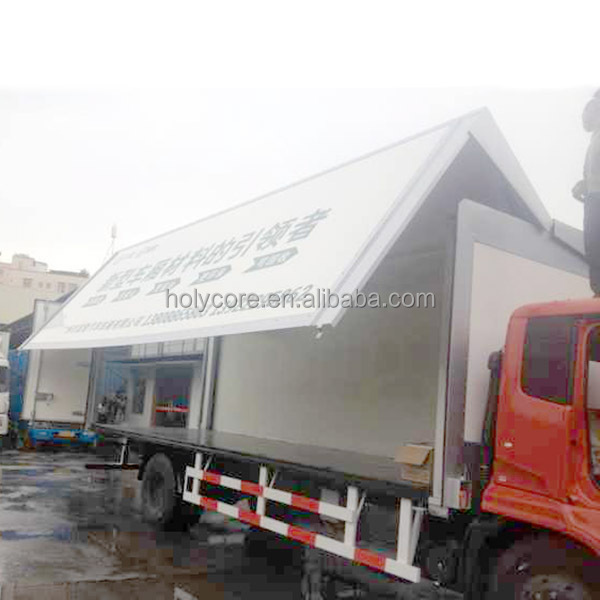 foton wing van body truck made of composite material holypan