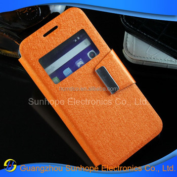 Ultra Thin Slim Fit Wallet Case Cover Caller ID Window for Alcatel One Touch Pixi 3(4.5) OT-4027N case