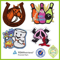 Cheap custom baby embroidered patches for kids clothing