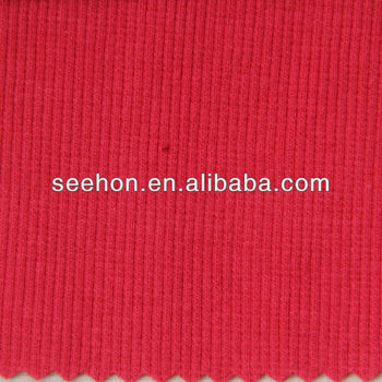 cotton 2x2 rib fabric for sweater SXYND1009 53cm 380g