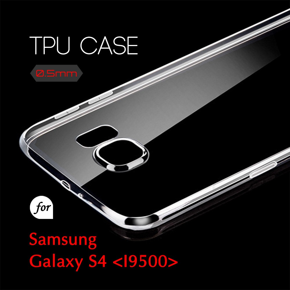 0.5mm Ultra Thin TPU Transparent Clear Protective Case for Samsung Galaxy Galaxy S4 I9500
