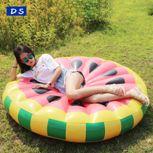 Inflatable Swimming Fruit Slice Floating Fun Island Lime Orange Watermelon Inflatable Fruit Pool Float