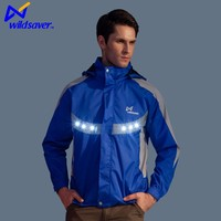 Neoprene led flashing latest design running jacket for men with long sleeve