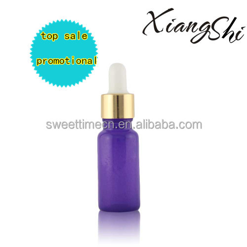 30ml 1oz purple essential oil glass golden dropper bottle with white rubber bulb