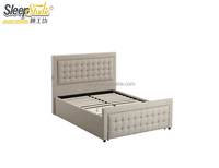 wholesale multifunction space saving furniture upholstered hidden wall bed with USB charging plug