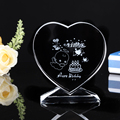 China crystal trophies heart shaped trophies