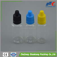 Plastic bottle hot sale e liquid electronic cigarette bottle
