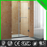 protable 2 glass hinge open glass screen door shower door