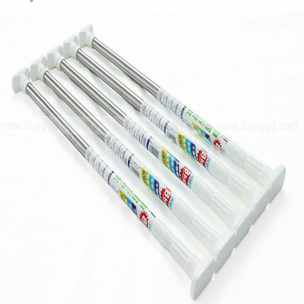 Folding thick metal shower curtain rod