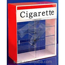 elegant high quality acrylic selling cigarette display stand case factory supplier