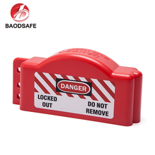 BAODI Factory Best Selling Red Colour Small Size Safety Gate Valve Cover Lockout