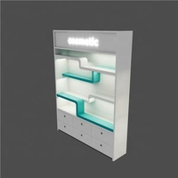Auto spare parts wall display cabinet and display shelves