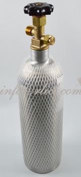 2L Refillable Aluminum CO2 Tank- Empty Air Gas Cylinder
