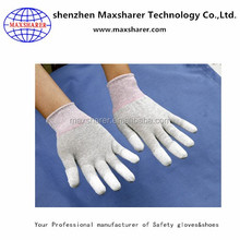 Online Wholesale Shop 13 Guage Work Glove White Nylon PU Coated ESD Gloves