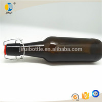 beer bottles with swing top 500ml amber glass