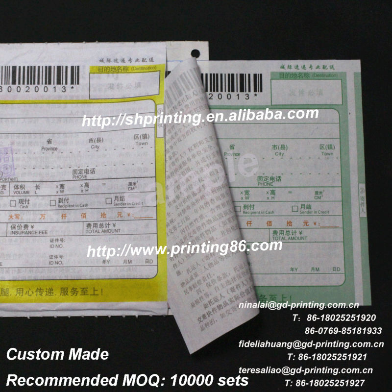 Triplicate Goods Delivery Note,Consignment Note - Buy Delivery