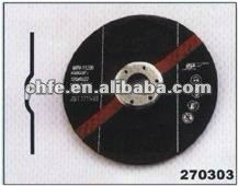 three- face reinforced metal abrasive cymbal shape grinding wheel