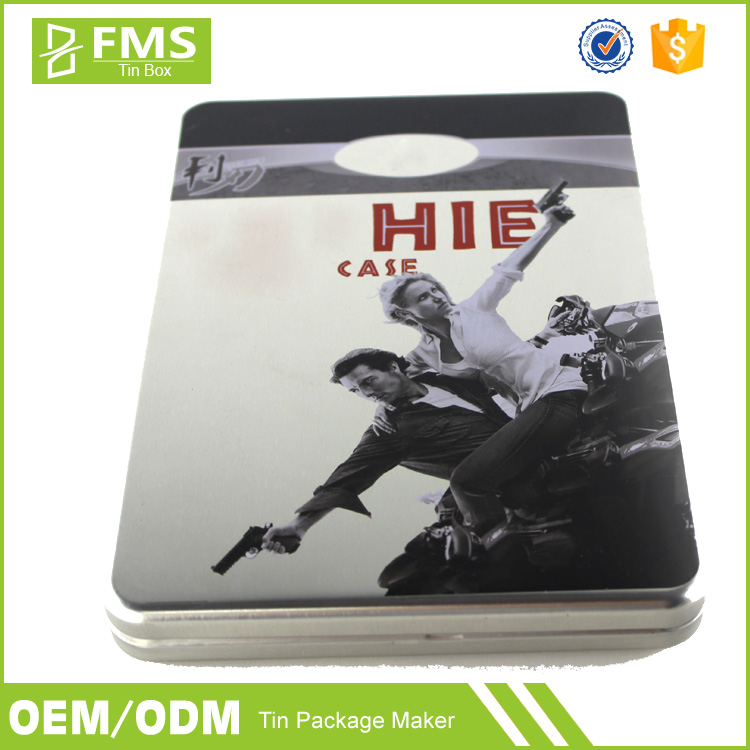 Custom Printed Blank Novelty Metal Tin Cd Dvd Storage Box Wholesale