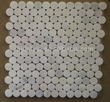 12''x12'' natural stone Eastern white marble mosaic
