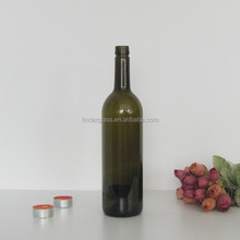 ROPP bordeaux glass wine bottle 750ml screw top wine bottle alibaba china antique green color