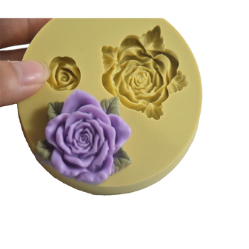 Rose fondant molds gum paste silicone mold