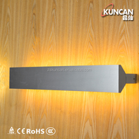 Modern pure aluminum light up and down led wall lamp for hotel
