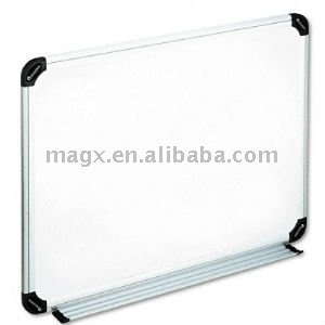 Dry Erase Board, Melamine, 24'' x 18'', White, Black/Gray