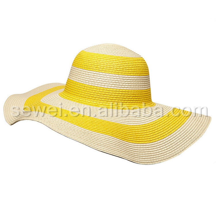 Promotional Elegant Ladies Sun Visor Straw Hat wholesale