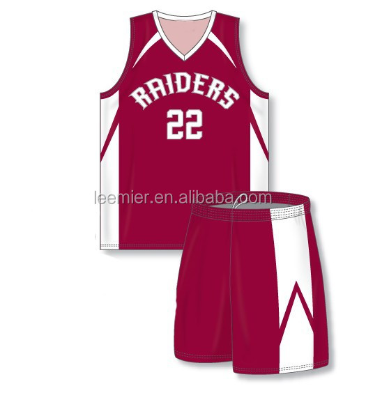 Wholesale sublimation printing and 1 basketball uniforms
