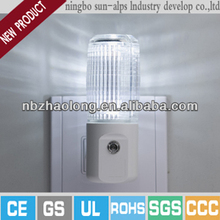 fiber optic night light decorative plug in led night lamp with sensor