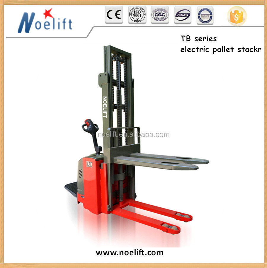 Electric Pallet Jacks / Stackers 1500kg Portable Hydraulic Electric Pallet Stacker 2.5 m