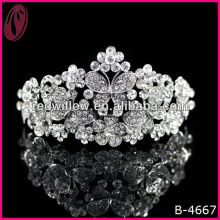 Real diamond rhinestone tiara princess crown