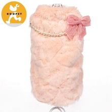Pink Mink Touch Dog Fur Clothes Coats