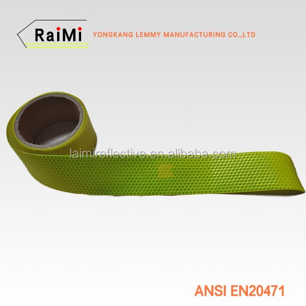 New Style Fluorescent Raw Material Checkered Reflective Tape PVC Material for clothing