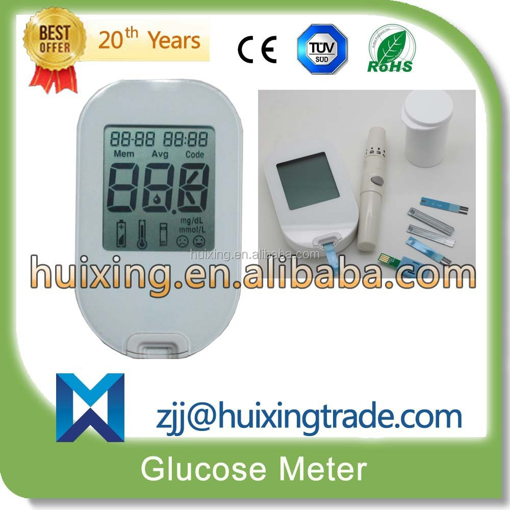 new design High Quality Big Screen With USB Compute Connection Cable Digital blood glucometer