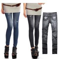 Women's Jeggings Stretch Skinny Leggings Tights Pencil ladies jeans top Design 7932