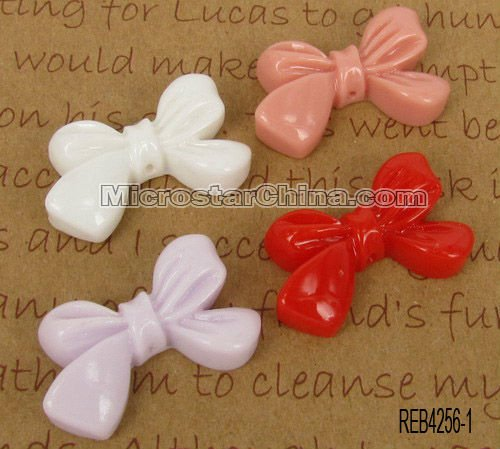 Resin cabochon for hair accessory bowknot mix color