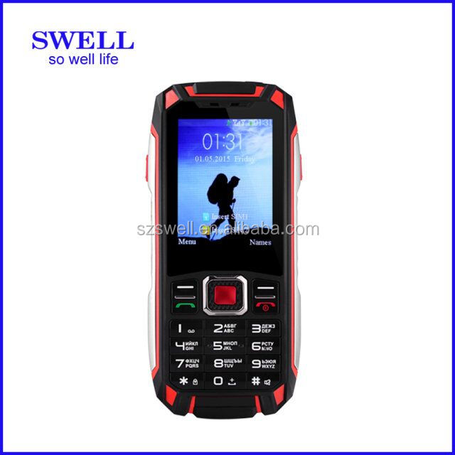 New model F007-rugged senior phone with PTT walkie talkie, torch, mobile phone with altimeter rough phones