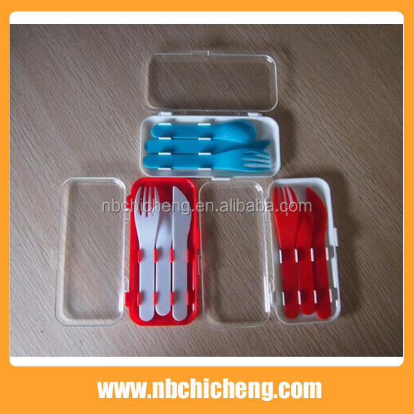 3pcs Portable Travel Plastic Cutlery Set